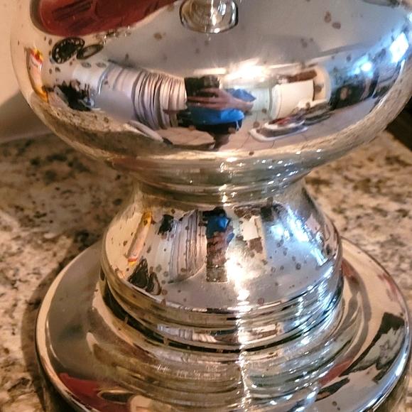 Large Mercury Glass Candle Holder